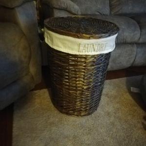 Storage & Organization - Wicker Laundry Basket